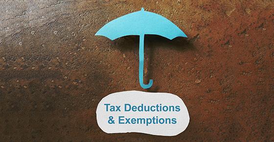 Tax deduction concept