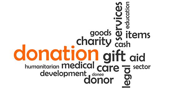 word cloud – donation